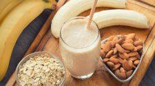 Melhorar a qualidade do sono com banana, aveia, mel e amêndoas