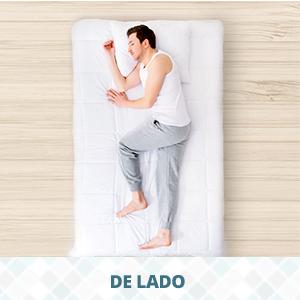 dormir de lado - travesseiro ideal